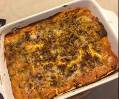 Lasagne di zucca e salsiccia (senza besciamella)