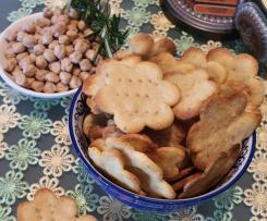 Crackers di ceci e rosmarino