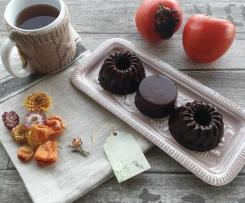 Budino di cachi e cacao