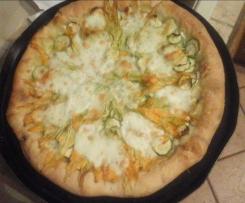 Pizza con lievito madre con cornicione ripieno di ricotta