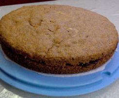 Torta di noci e grano saraceno, senza glutine e lattosio