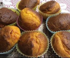 Variante di Muffin alla zucca con cuore al formaggio