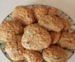 biscotti con fiocchi d'avena e farina di segale