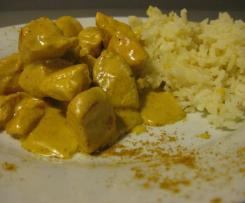 Pollo con cipolle al curry