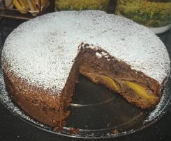 Torta cioccolato e pesca (riciclo cioccolatini)
