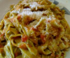 Fettuccine verdi al basilico