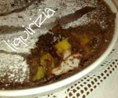 clafoutis alle pesche cioccolatose in 15 minuti