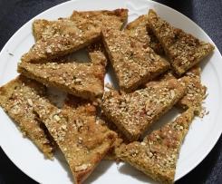 Pizza rustica con farina di lenticchie e ceci