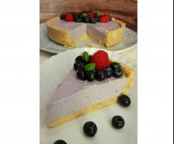 Cheesecake leggera ai mirtilli