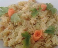 Fusilli con zafferano carota e zucchine