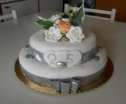 torta nozze d argento