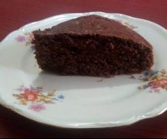 Torta integrale al cioccolato fondente senza uova senza lattosio