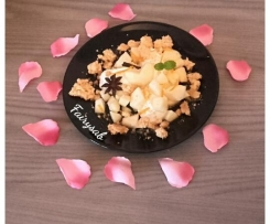 Crema di ricotta e pere con crumble croccante (San Valentino)