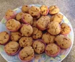 Muffin con zucchero di canna integrale
