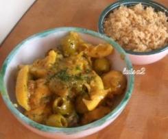 Tajine di pollo  e cous cous (1 porzione)