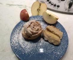 Ciambelline alle mele e profumo di cannella
