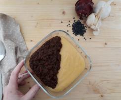Lenticchie nere Beluga con polenta di mais (vegan)