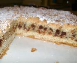 Crostata ricotta, cioccolata e amaretti