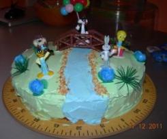 Torta di compleanno Looney Tunes