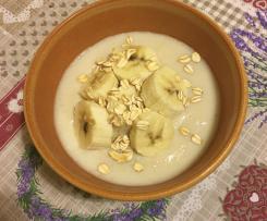 Crema d'avena alla banana