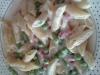 Pasta prosciutto cotto, piselli e panna