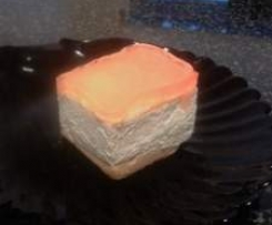 cheesecake a freddo con topping al mandarino