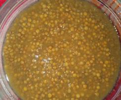 lenticchie con verdure passate - idea da congelare e scaldare al bisogno