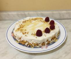 Cheesecake al miele, ricotta e yogurt-Contest torte senza cottura