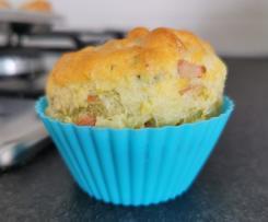 Muffin Bimby salati mortadella e pistacchi