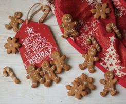 Biscotti pan di zenzero - con farina integrale e senza burro