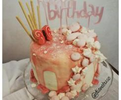 DRIP CAKE con cioccolato bianco