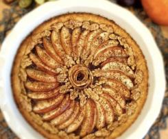 Crostata d'autunno con mele e noci