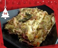 Lasagne con asparagi, culatello e salsa Mornay - Natale