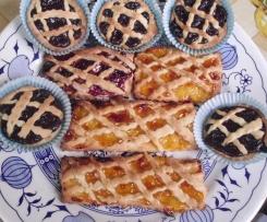 Crostatine al cioccolato e marmellata