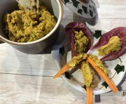 Hummus (finto..) con carote arrosto