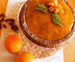 Crostata morbida all'arancia con mandorle e carote