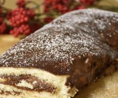 Rotolo al cioccolato ricoperto