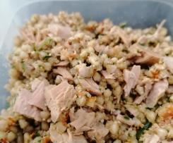 Insalata di grano saraceno  con finto pesto di rucola - contest lunchbox