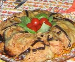 Ciambella di spaghetti e melanzane