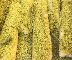 Merluzzo con lime e pistacchi