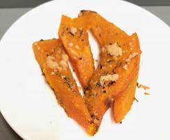 Zucca al parmigiano e erbe al forno - contest contorni di verdura