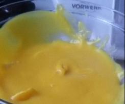 Crema pasticcera con latte di soia senza uova