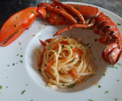 Linguine all'astice con pomodorini