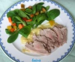 Filetto di maiale con salsa di porro