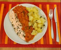 Filetto di Trota salmonata a Varoma con salsa ortolana e contorno di patate (contest secondi di pesce)