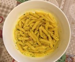 Pasta risottata cremosa alla pancetta,formaggio spalmabile e curcuma-Contest pasta risottata