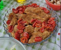 Petto di pollo gratinato e pomodorini