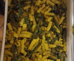 Fusilli risottati con asparagi cozze e zafferano