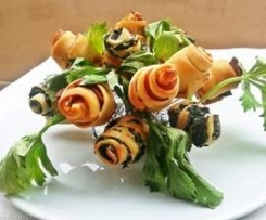 Bouquet salato di boccioli finger food