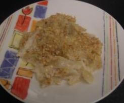 Finocchi al latte gratinati con noci e gorgonzola
